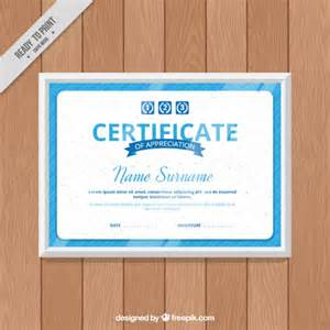 blue certificate template blue certificate template vector free