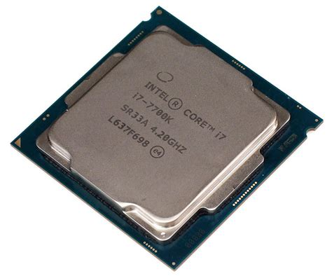 i7 7700k cpu fan intel core i7 7700k kaby lake processor overclocked and