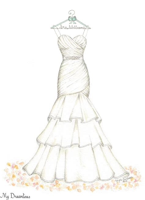gown wedding dress sketches www pixshark - Wedding Dress Sketch