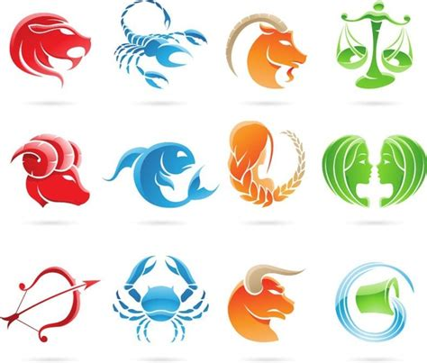 set   zodiac signs vector graphic  vector