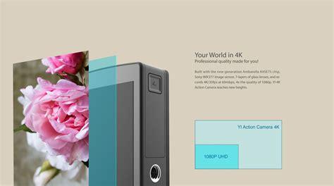 Xiaomi Yi 2 Wifi 4k Lcd Display Kamera White xiaomi mi xiaoyi yi sport 4k 2160p wifi