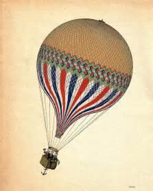 vintage air balloon 14x11 letricolore digital by