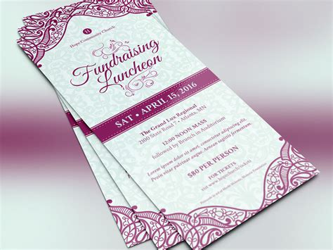 luncheon flyer template fundraising luncheon flyer template on behance
