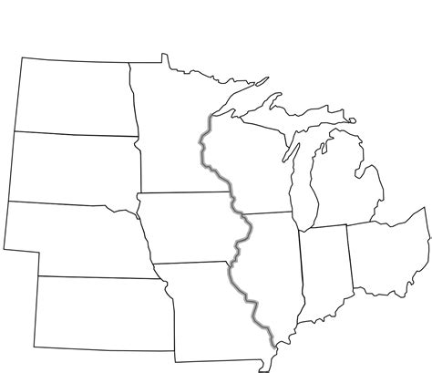 map of midwest states file usa midwest notext svg wikimedia commons