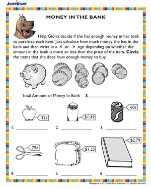 New Der One Way 4 Warna printable worksheets for money worksheets for all