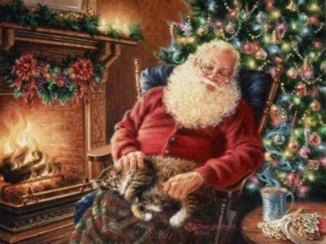 santa claus sleeping free desktop wallpapers for