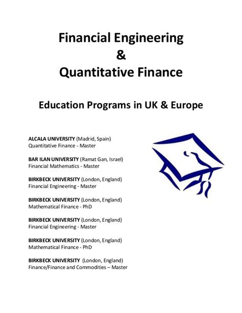 The Financial Engineer Mba Rankings by Jezri Mohideen Financial Engineering