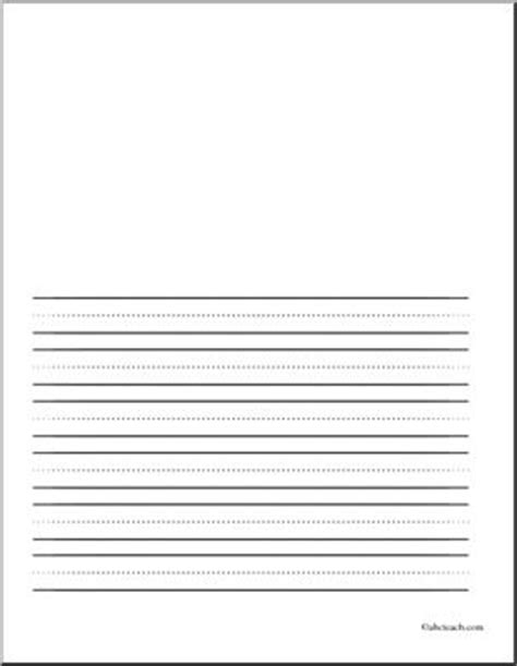 lined writing paper with picture space to draw teaching and grade on