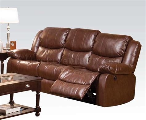 50200 fullerton power motion sectional sofa in brown by acme