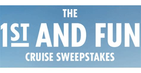 Carnival Cruise Sweepstakes - carnival cruise lines saints first and fun sweepstakes shareyourfreebies