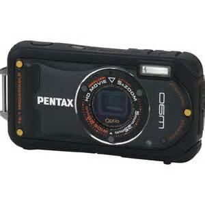 pentax compact pentax optio w90 compact digital black 16411 b h