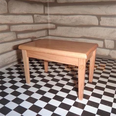 5 room dollhouse furniture dining room set wooden chair desk dollhouse furniture 1 12