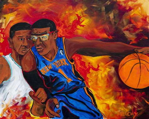 basketball pop art paintings new york knicks official website of frenchy
