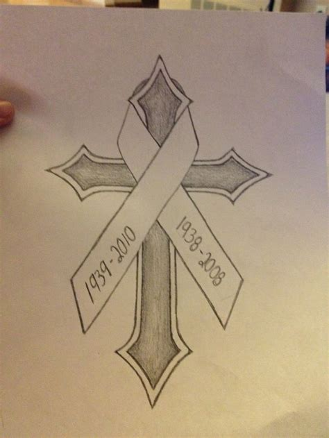 cross tattoos with cancer ribbon best 20 lung cancer tattoos ideas on