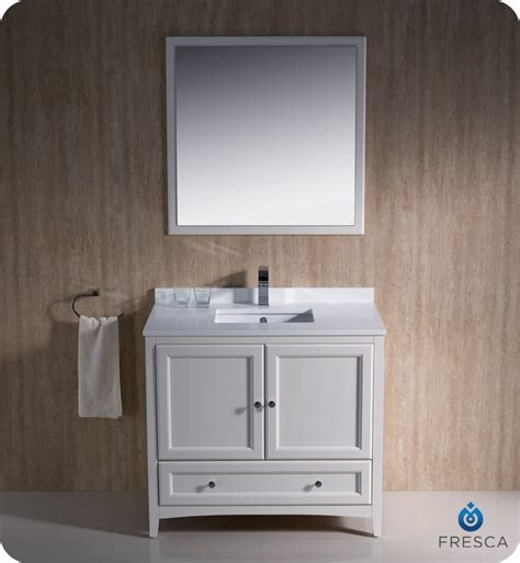fresca fvn2036aw oxford 36 quot traditional bathroom vanity in