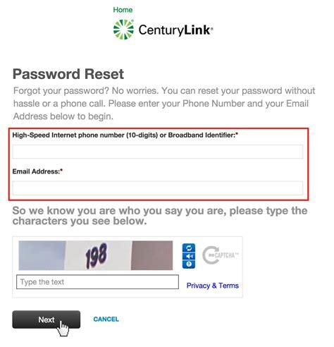 resetting wifi password centurylink centurylink password reset accountxs com