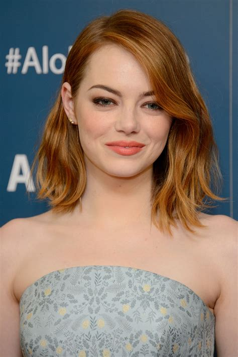 emma stone hairstyle 2015 celebrity hairstyles 2015 emma stone s aloha premiere makeup pret a reporter