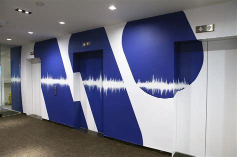 warner  group office murals graffiti usa