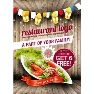free restaurant flyer templates xoo plate rustic style restaurant flyer vector template