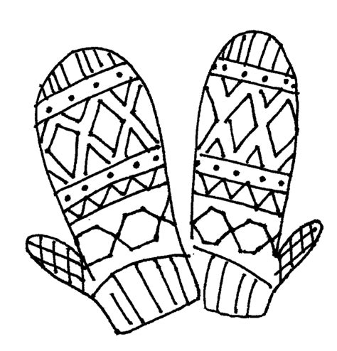 mitten coloring page coloring home