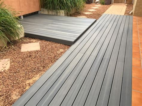 Nice Small Bathrooms nexgen composite decking grey birch modern deck