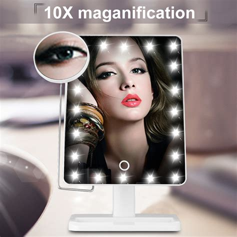 lighted magnifying makeup mirror 20x ovonni 10x magnifier led touch screen makeup mirror 20x