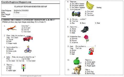 Kreatif Ips Kur Ktsp Kelas 3 contoh soal uts b inggris ktsp kelas 2 semester 2
