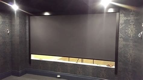 smart shades systems home theatre room divider  full