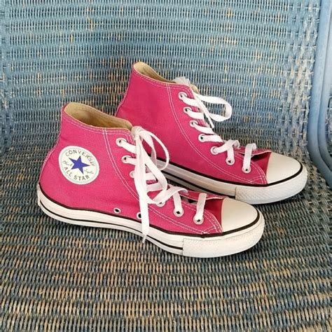Converse High Chili 37 44 44 converse shoes pink high top chuck converse from camille s closet on