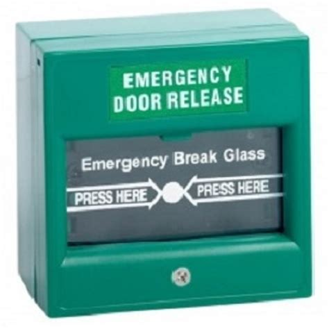 Emergency Door Release by Emergency Door Release Pole Green Glass