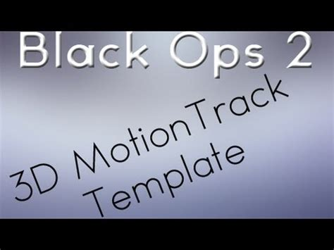 motion track template black ops 2 3d motion track templates free