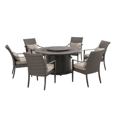 Sunjoy Patio Furniture by Sunjoy 7 Patio Dining Set With Slate Cushions