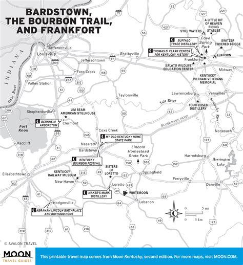map kentucky bourbon trail traveling the bourbon trail a 5 day kentucky itinerary