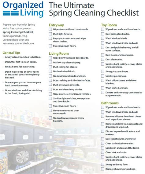 the ultimate spring cleaning guide bonus spring cleaning the ultimate spring cleaning checklist part 1 organized