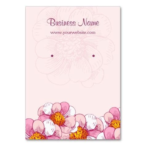 make your own earring cards pink boutique flowers earring display cards business