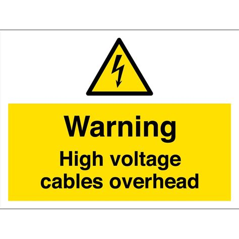 high voltage safety high voltage cables overhead signs from key signs uk
