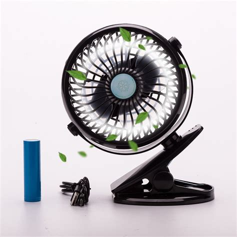 small battery fan with clip rechargeable battery operated clip mini fan usb