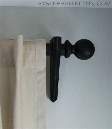 diy curtain rod holders best 25 wooden curtain rods ideas on pinterest diy