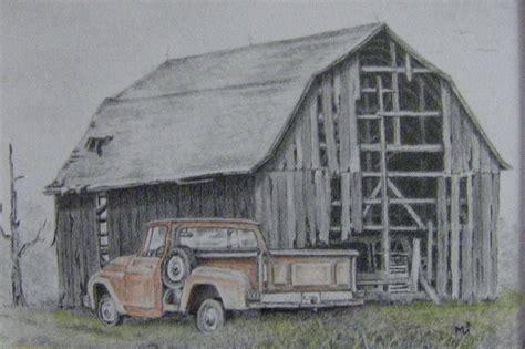 scheune zeichnung barn pencil drawing but not forgotten rustic rural