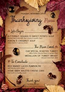 thanksgiving day menu template flyers psd bundle thanksgiving menu flyer templates