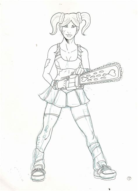 lollipop chainsaw coloring pages coloring pages