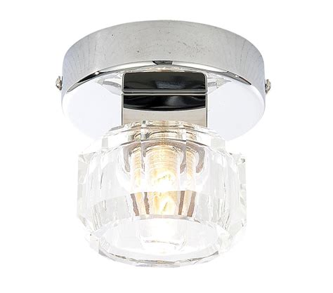 Bq Ceiling Lights Apsley Clear Chrome Effect Bathroom Ceiling Light
