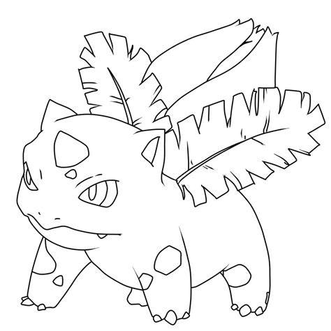 pokemon coloring pages ivysaur ivysaur art line by inetal on deviantart