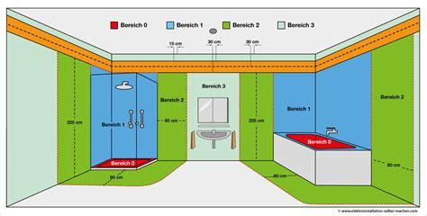 Elektroinstallation Badezimmer by Elektroinstallation Installationszonen Badezimmer