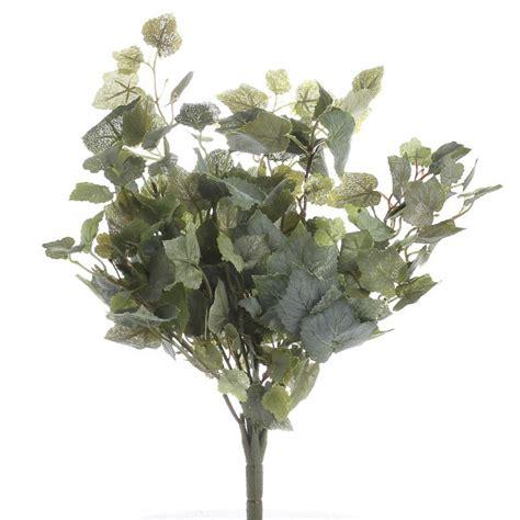 artificial flocked grape leaf bush artificial greenery