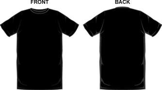 Black Plain T Shirt Template black t shirt template front and back clipart the cliparts