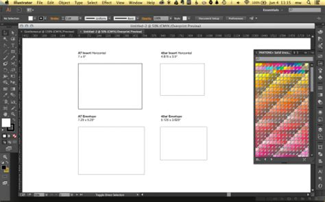 Designing Stationery In Adobe Illustrator Using Templates A Fine Press Stationery Template Illustrator