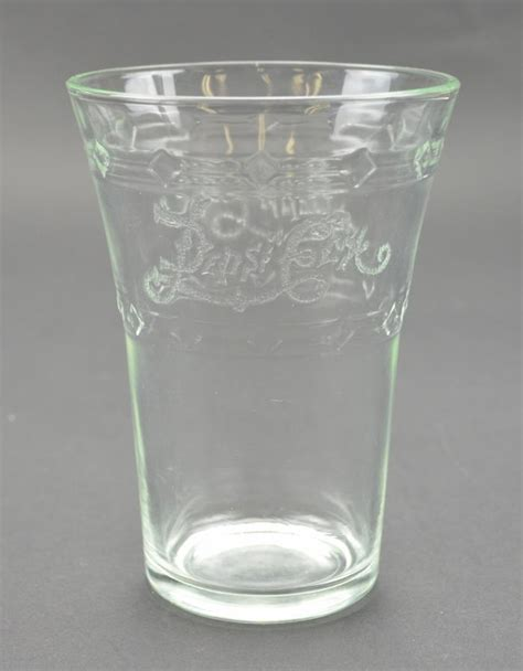 """Pepsi Cola Flared Etched Glass   4.75"""" Tall"""