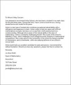 5 college recommendation letters sample templates