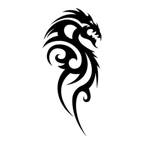 black and white dragon tattoos cliparts co